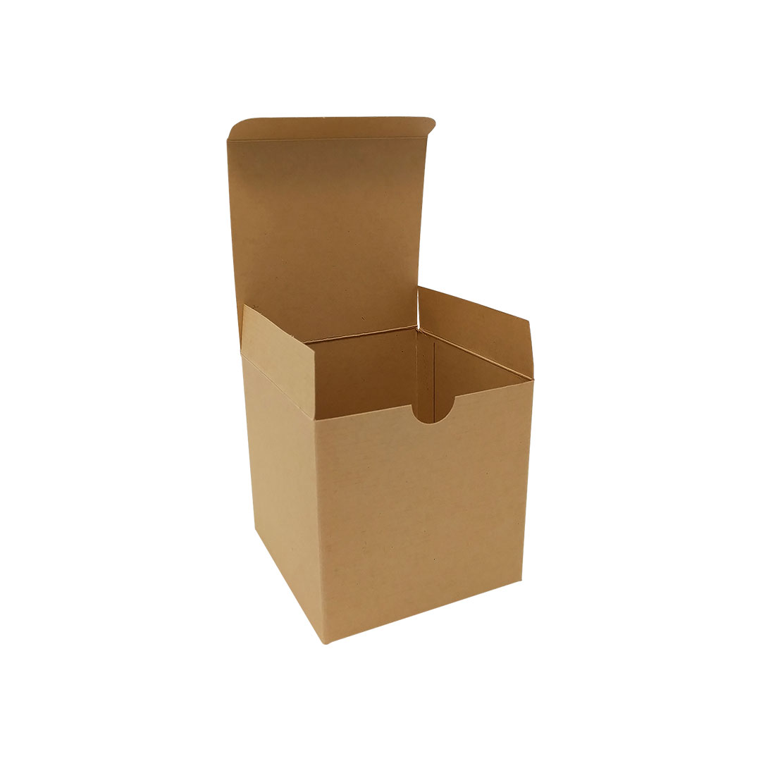Square Brown Flat Pack Boxes, 100 x 100 x 100 mm