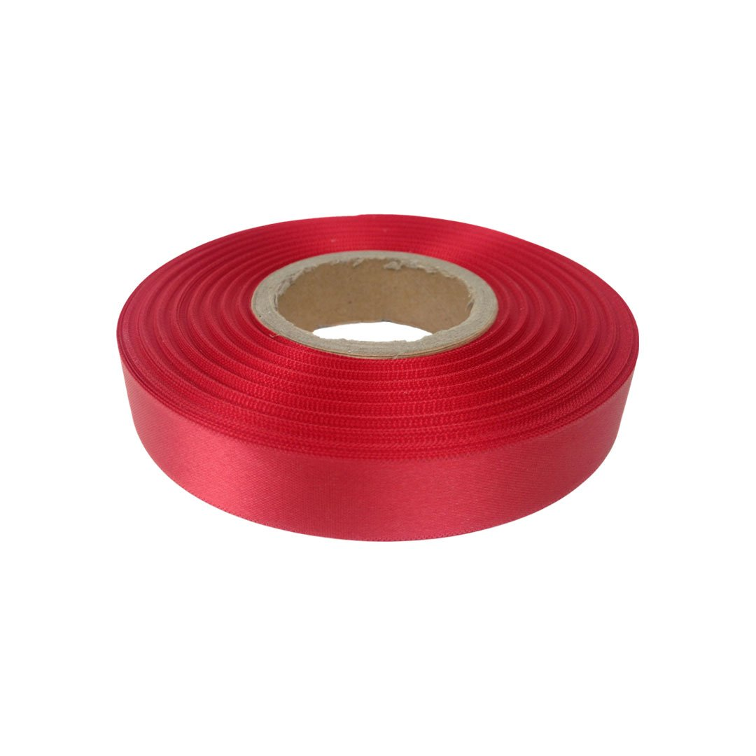 By the Metre Burgundy Satin Ribbon 10 mm Double Sided Satin